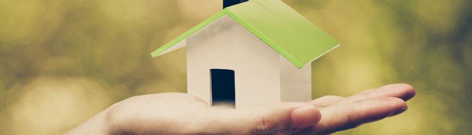 Une main qui tient une petite maison