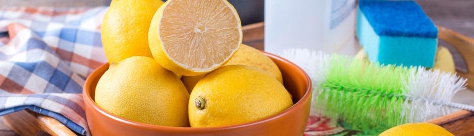 Nettoyage maison avec du citron