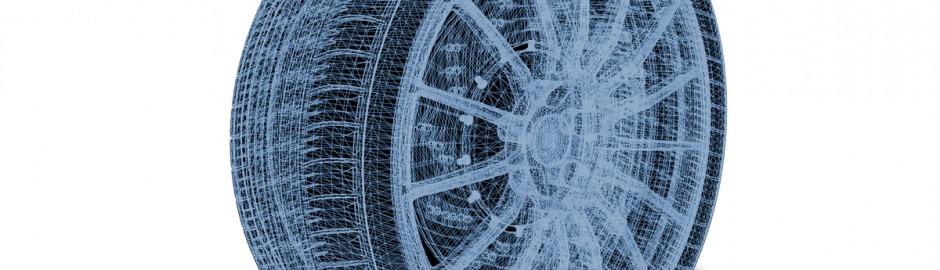 Image d'un pneu futuriste